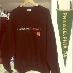 Vintage Logo Athletics Browns Crewneck Sweatshirt